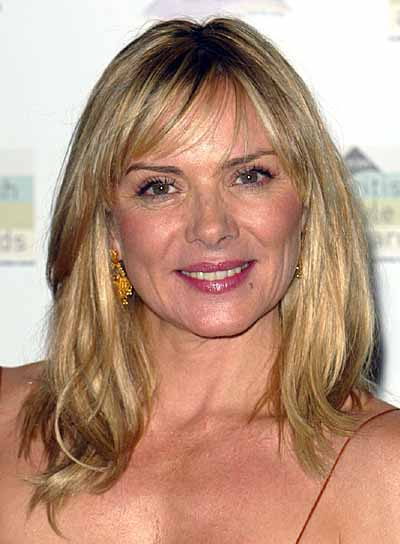 Kim Cattrall Medium Length Hairstyle For Square Faces