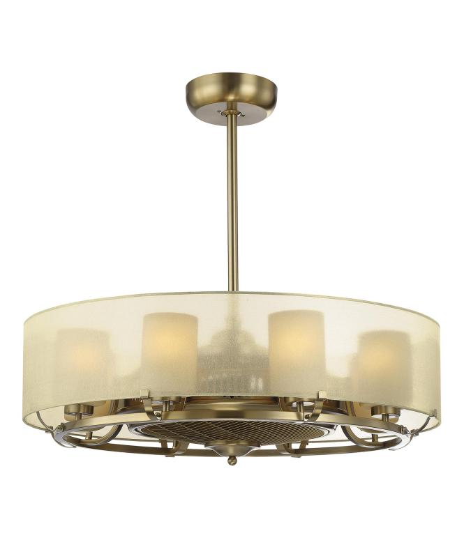Shown In Burnished Russett Finish Cream Glass And Shade