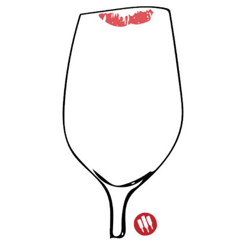 Marcas en la copa de vino