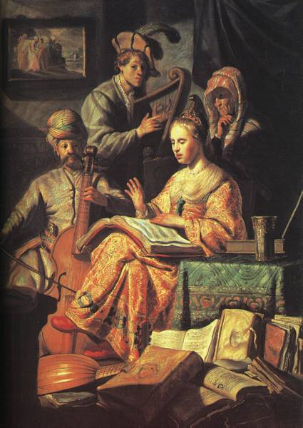 "Rembrandt ""The Music Lesson"""