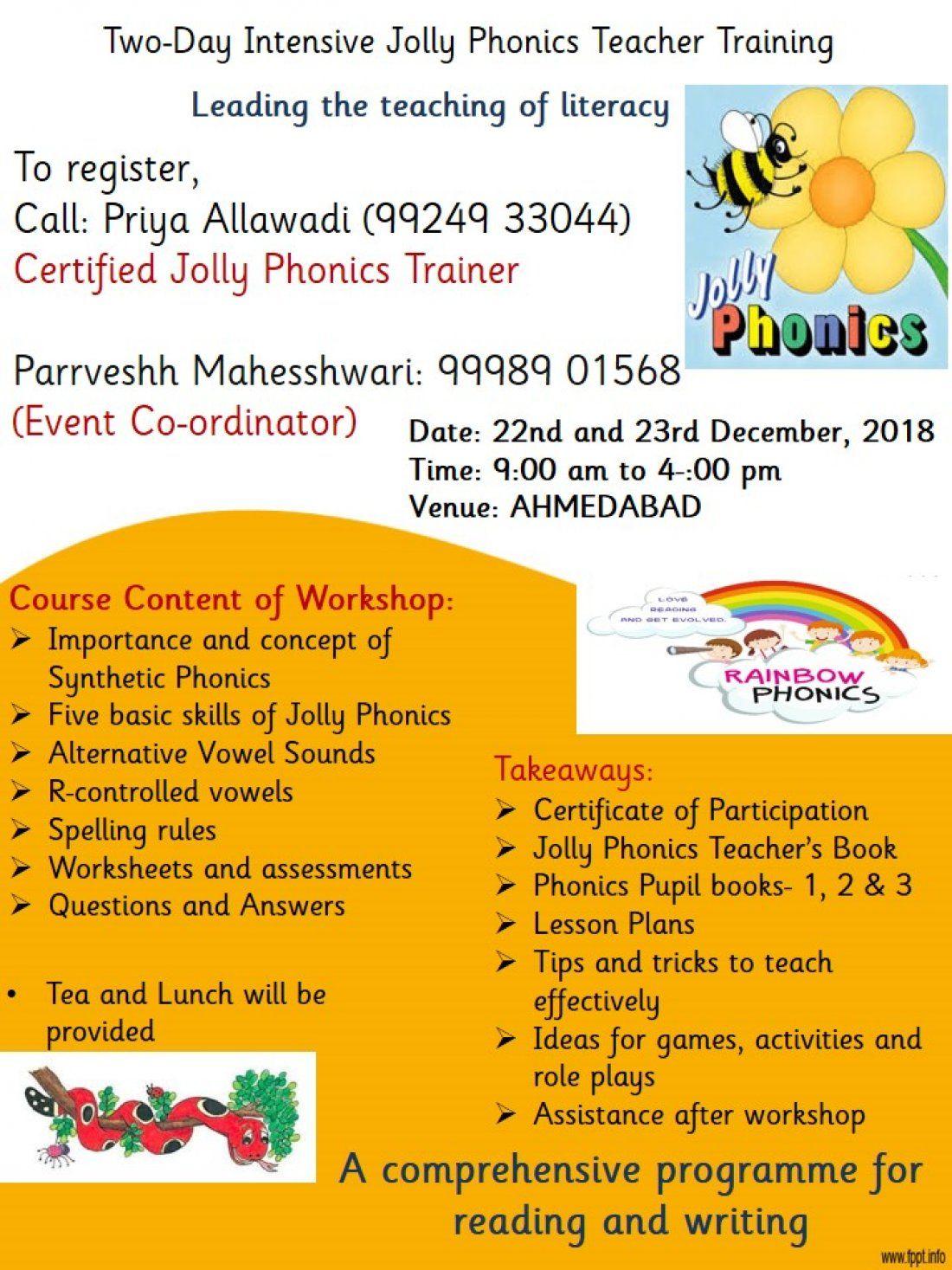 Jolly Phonics Training At Ashram Road Ahmedabad