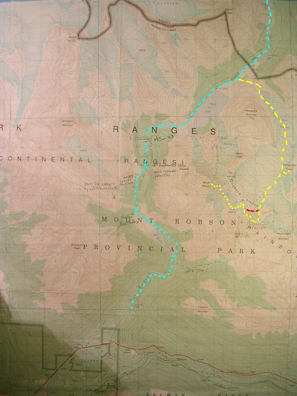 Kain Face Map Contour Interval 100 Feet One Kilometer