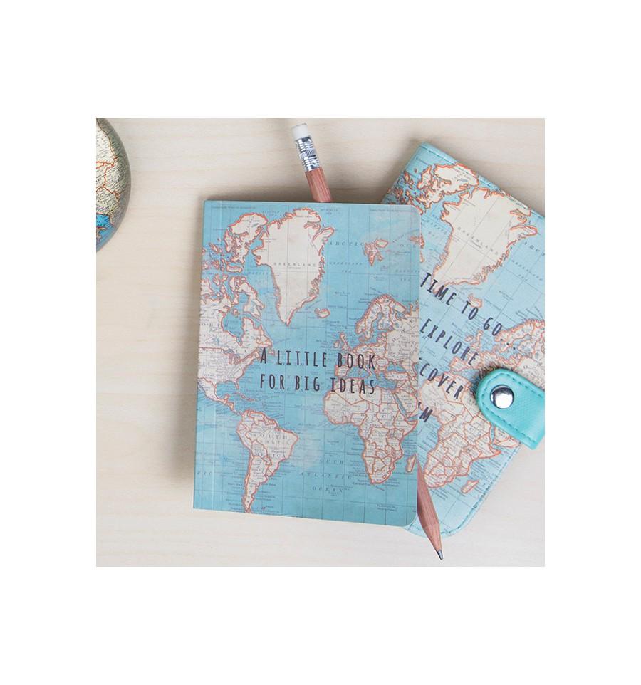 Petit Carnet De Voyage Carte Du Monde