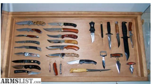 Knife Display Cases Wall Collection