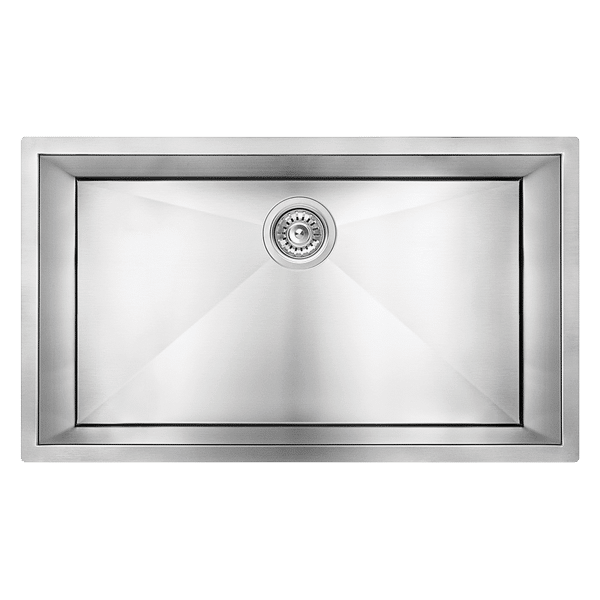 abey piazza 770mm square single bowl sink cr720