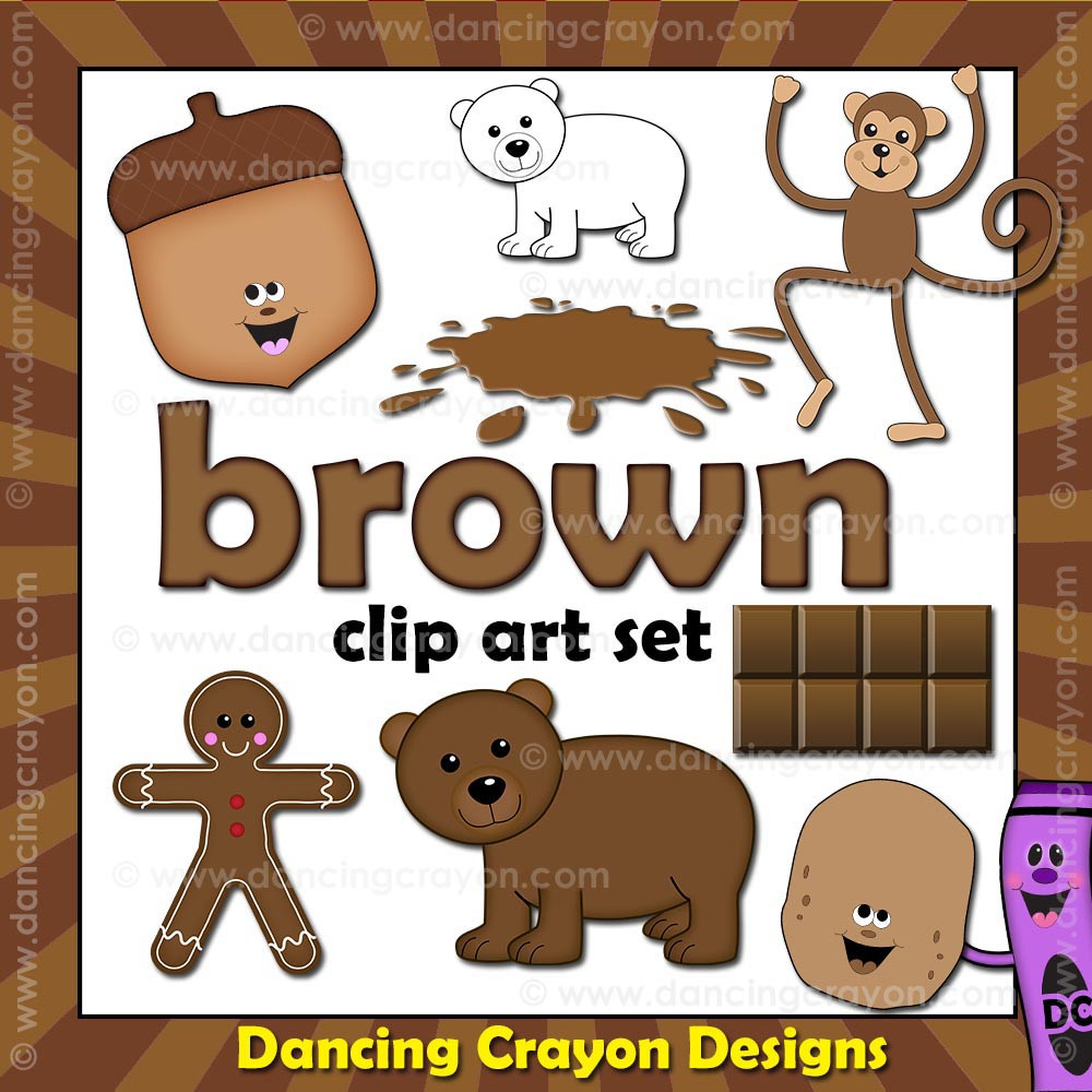 brown clipart things that are brown color