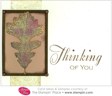 White Oak Leaf Thinking Of You Card Ideas Amp Samples