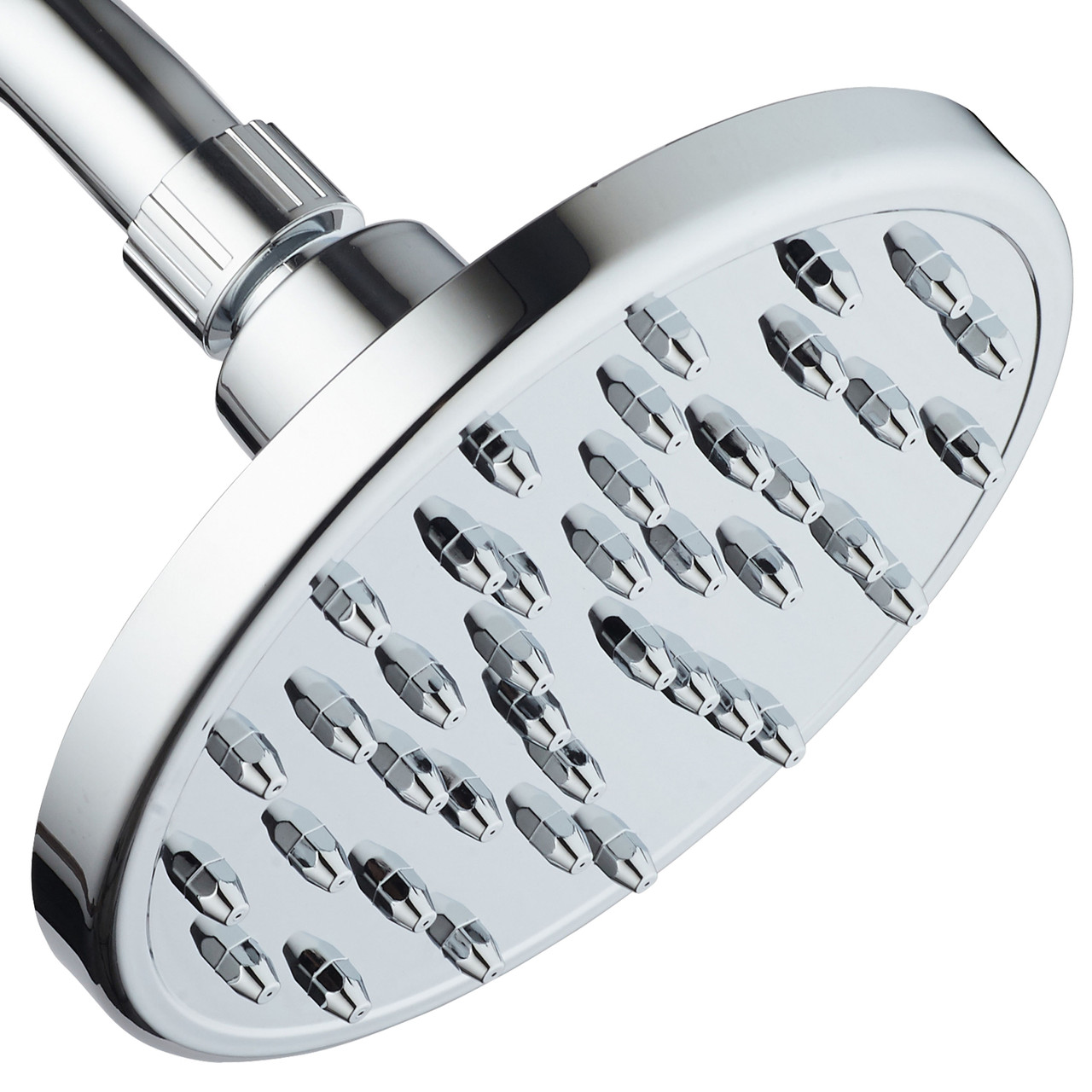 Megarain Rainfall High Pressure 6 Inch Shower Head By Aquaspa Angle Adjustable Solid Brass Ball Joint 40 Jets Full Chrome Finish Excellent