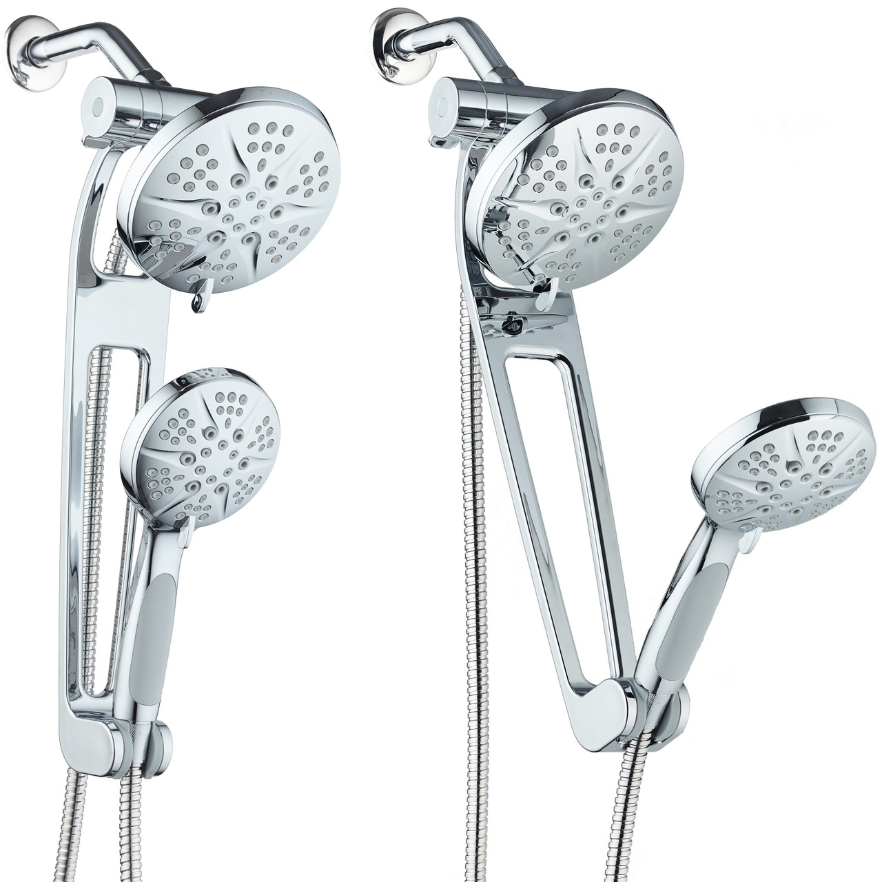Aquabar Tm High Pressure 48 Mode 3 Way Shower Spa Combo With Adjustable Extension Arm For Total Convenience Enjoy Luxury 6 Rainfall Handheld Shower Head Separately Or Together All Chrome Finish Ipshowers Com