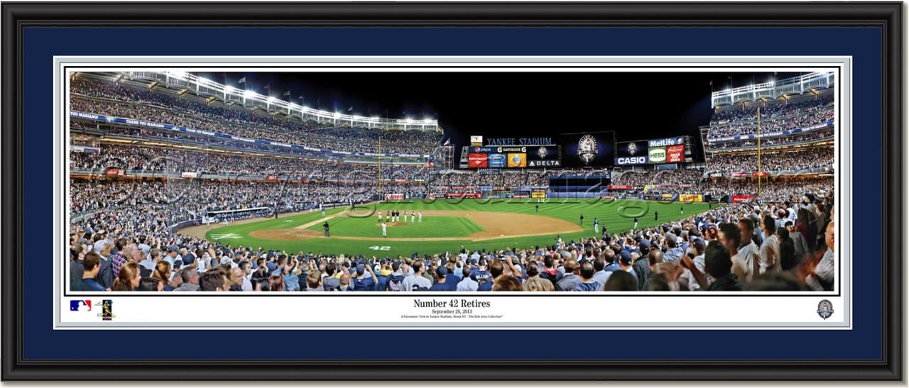 ny yankees mariano rivera retires framed panoramic poster