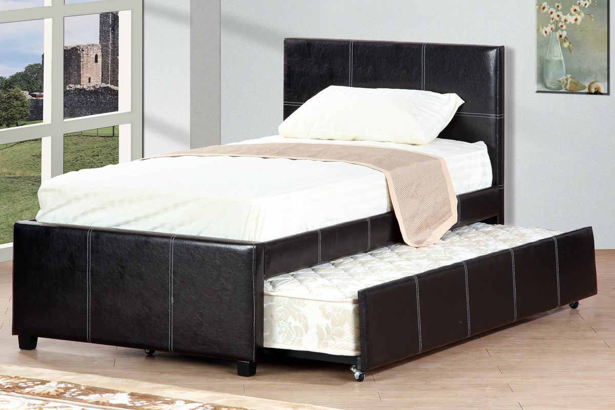 cyril espresso double bed with trundle