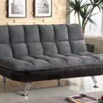 Nando Gray Microfiber Convertible Futon Sofa