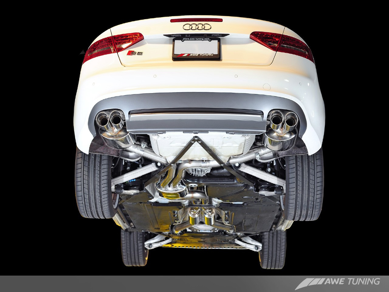 awe tuning audi s5 3 0t exhaust system