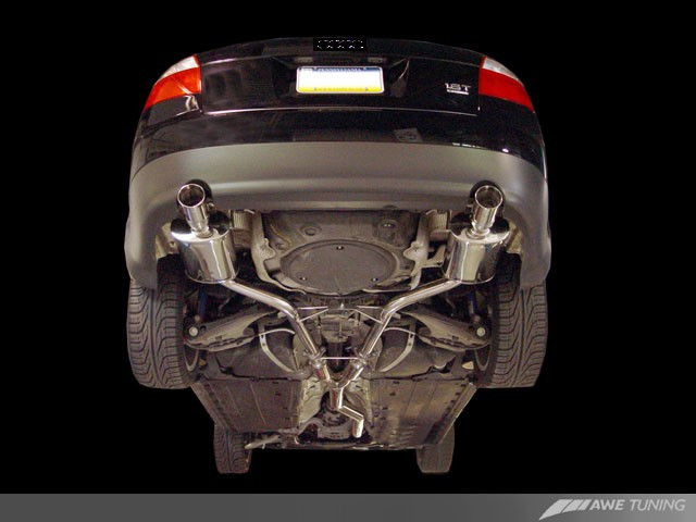 awe tuning audi b6 a4 1 8t quattro exhaust system