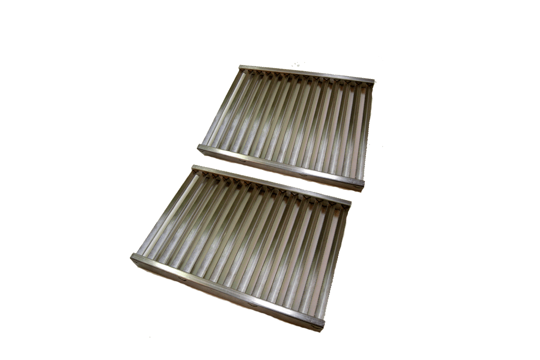 tec set of two sterling 2 patio 13 channel two cooking grids stcg2