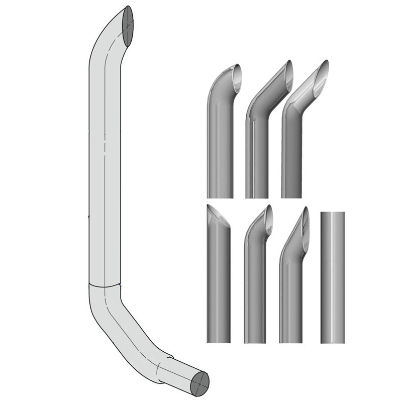 kenworth w900 6 lincoln exhaust stack kit