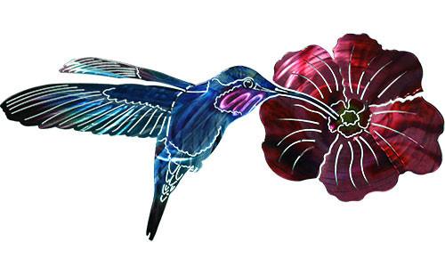 3D Hummingbird With Flower