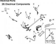 ETon 90 Electrical RXL90  Viper 90 _WIRE HARNESS , SWITCH, CDI BOX, REGULATOR, BATTERY