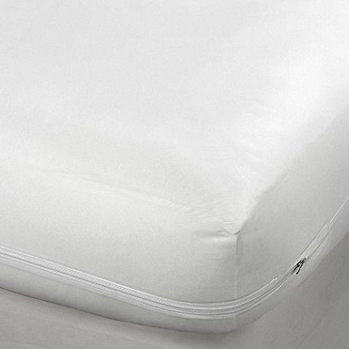 Zippered Fabric Mattress Cover Bed Bugs Dust Mites Protector Encat
