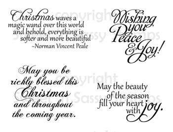 Christmas Greetings Digital Stamp Set Sweet N Sassy Stamps