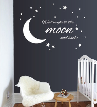 To The Moon And Back Wall Decal Guru