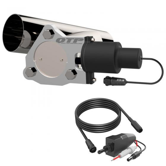 3 inch single exhaust electric cutout combo kit qtp