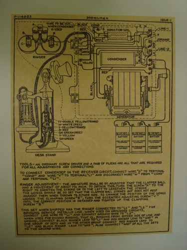 Wooden Mago box and candlestick Wiring Diagram glue on  Old Phone Shop Store
