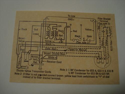 653 Metal Wall Phone Diagram Glue On