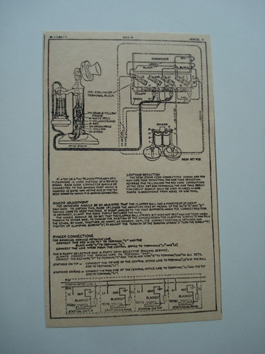 Western Electric 334A ringer subset box wiring diagram glue on | Old Phone Shop