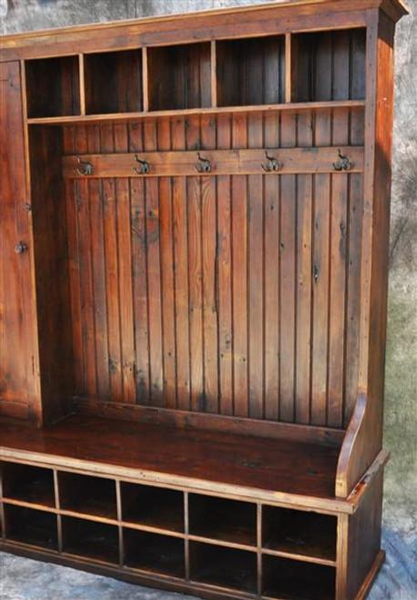 Reclaimed Wood Mudroom Organizer 72