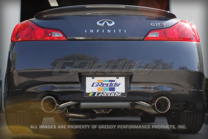 greddy sp elite cat back exhaust infiniti g37 coupe