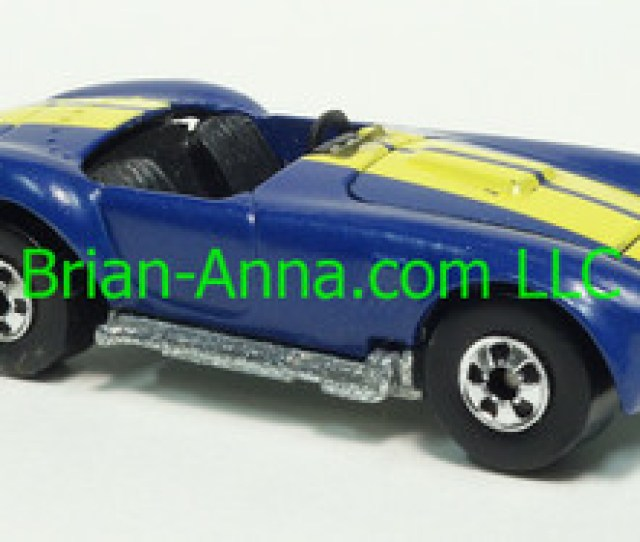 Hot Wheels  Classic Cobra From Mexico Blue With Yellow Stripes Blackwall Wheels