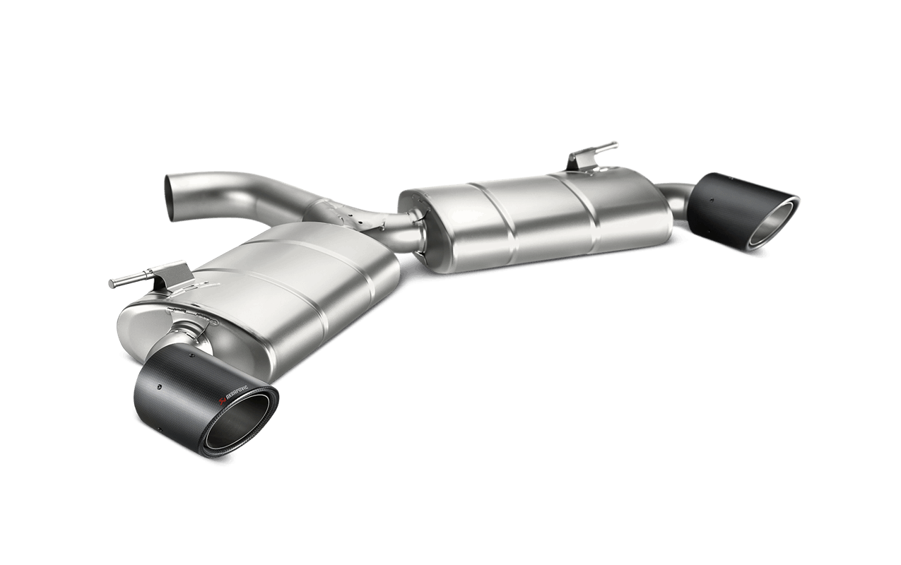 akrapovic stainless steel slip on exhaust system with carbon fiber exhaust tips for volkswagen golf mkvii gti