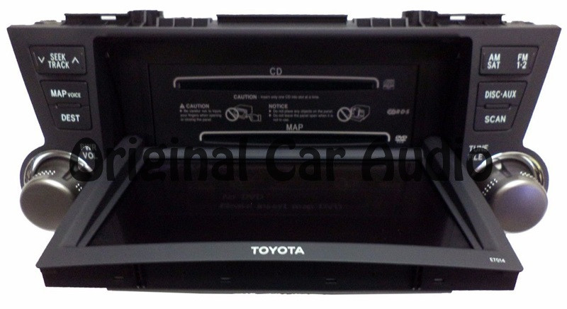 Toyota HIGHLANDER OEM JBL Touch Screen Navigation Radio