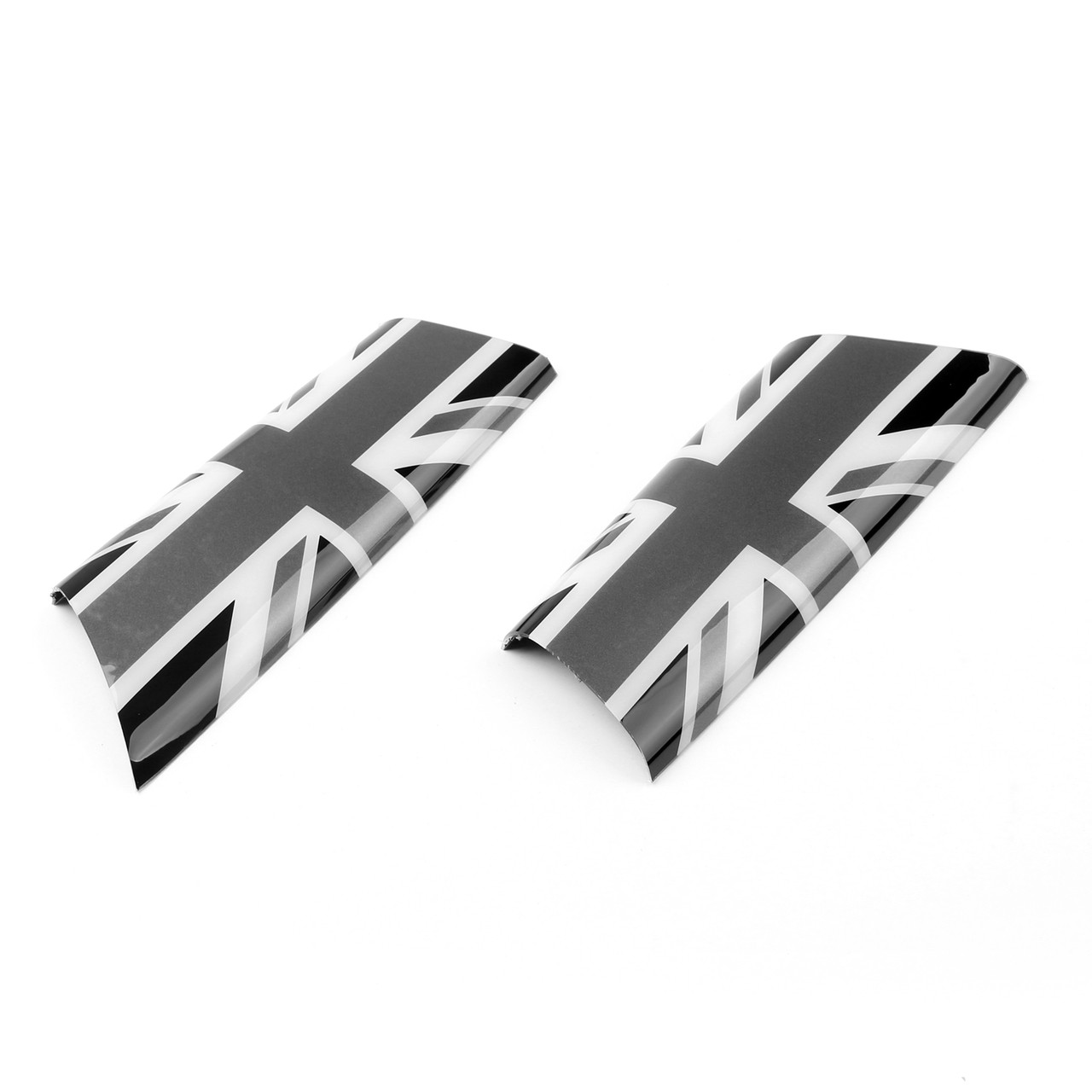 Door Pull Handle Covers Trim MINI Cooper R55 R56 R57 R58 Union Jack UK Gray