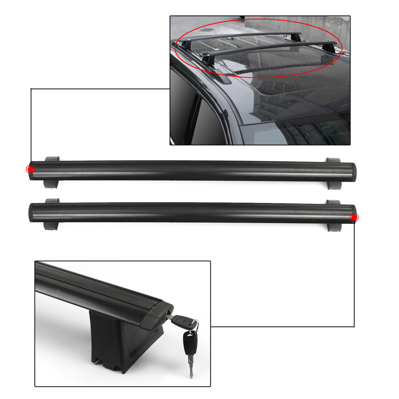 Roof Rack Cross Rails Bars Luggage Carrier E1 For JEEP Grand Cherokee (2011-2018)