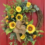 Ashland Silk Sunflower Front Door Spring Wreath 22 In The Wreath Depot