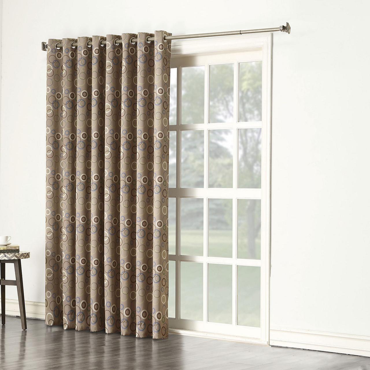 melanie room darkening patio curtain in