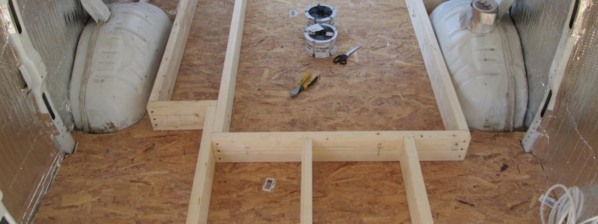 Building a raised floor for Raised floor house
