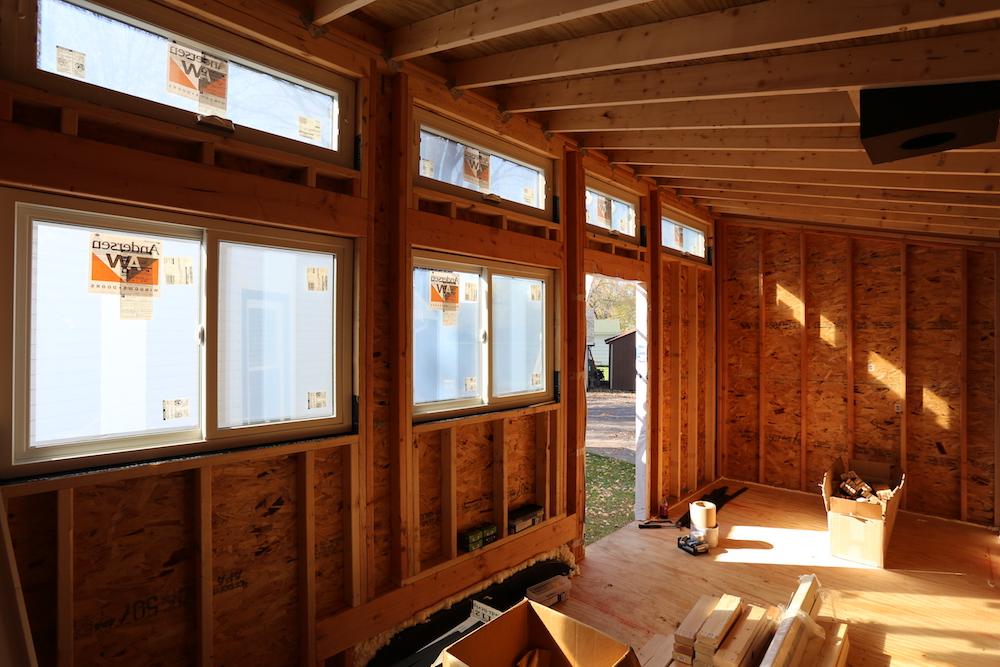 Tiny House: Sheathing and Windows