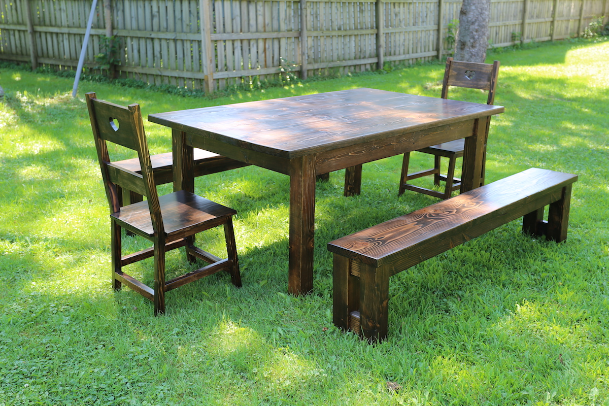 Farm Table, Benches, and Chairs (Oh My!)