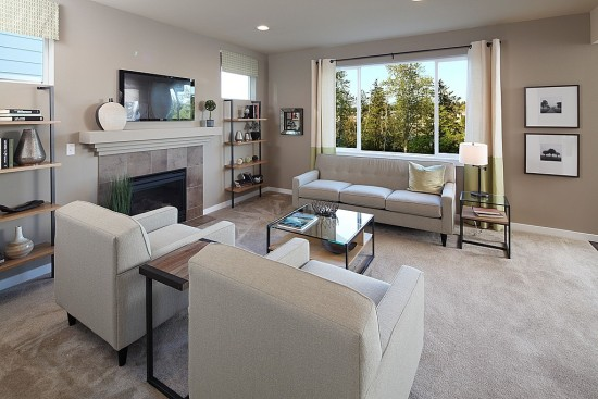 Neutral furniture doesn't overwhelm a room.