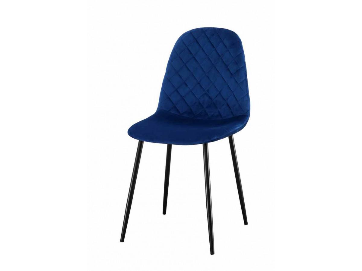 lot de 4 chaises velours deauville