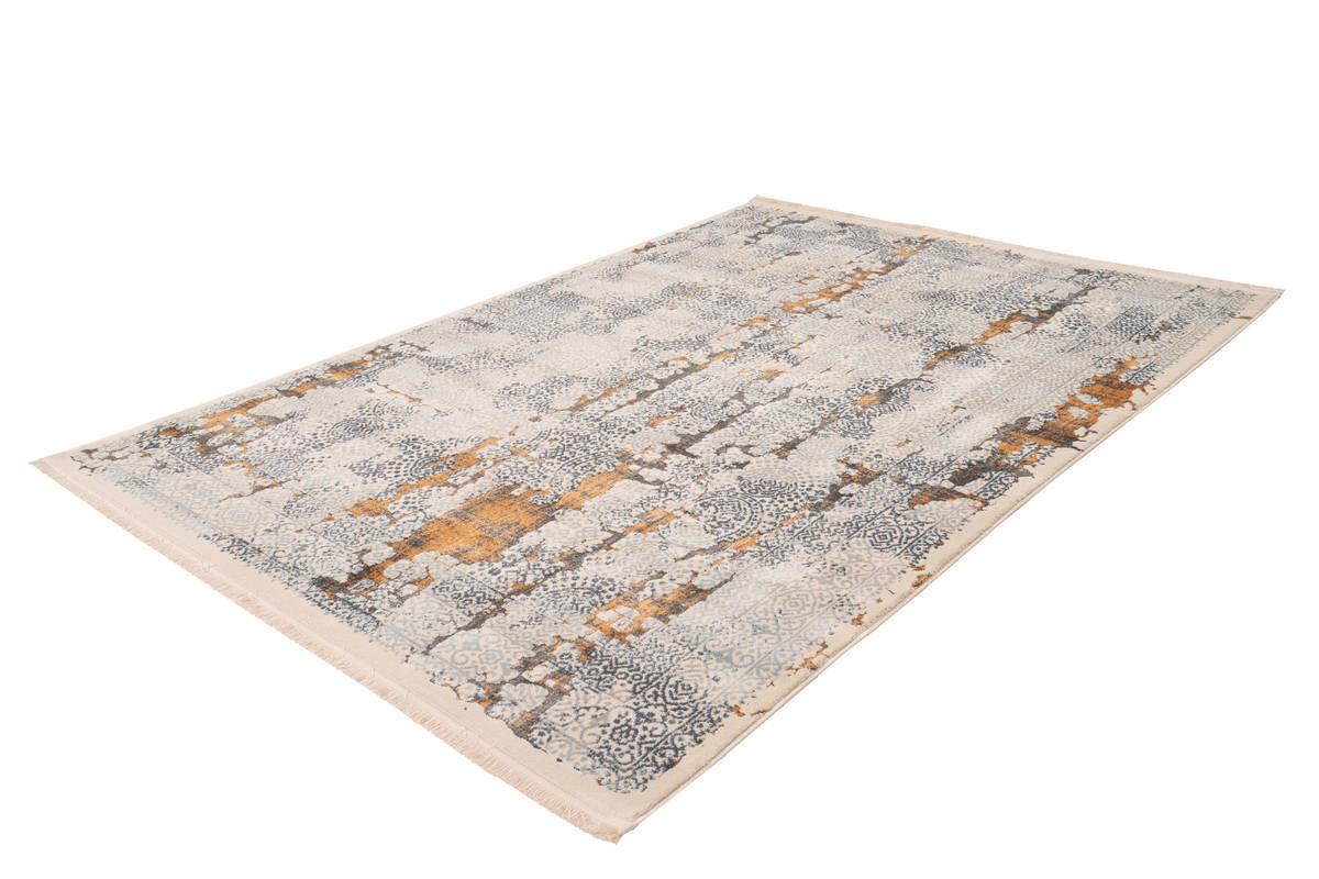 tapis tenzo gris orange 80cm x 150cm bobochic