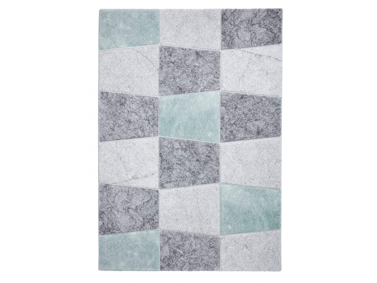 tapis london gris vert 160 x 220
