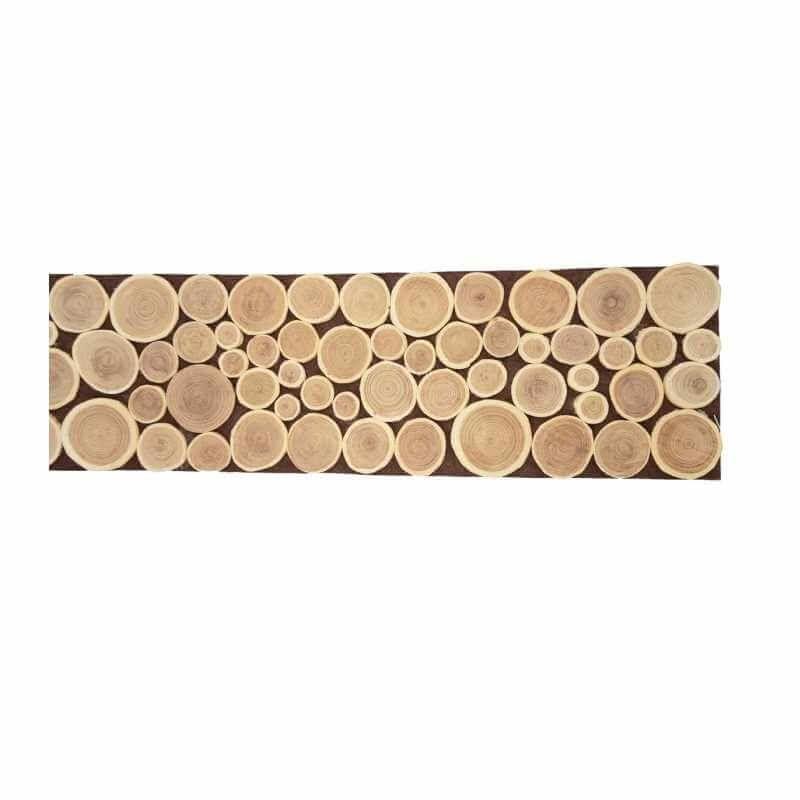 centre de table rectangle en bois