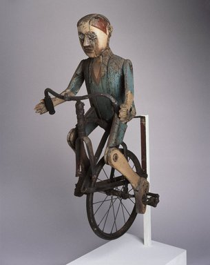 Brooklyn Museum: Trade Sign (Boy Riding Bicycle)