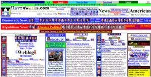 cluttered website