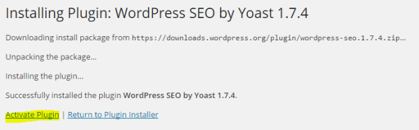 Install and activate a WordPress plugin