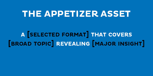 appetizer formula for content pillar approach